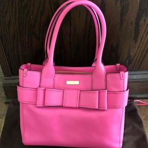 Kate Spade pink leather bow bag